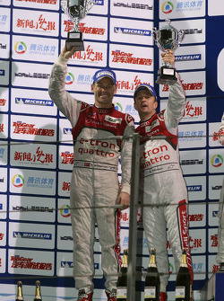 Podium: second place Tom Kristensen, Allan McNish