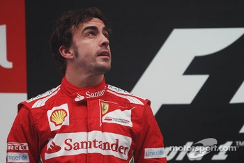 Fernando Alonso, Ferrari on the podium
