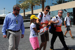Paul di Resta, Sahara Force India F1 with Richard Goddard, Driver Manager, and Gerry Convy, Personal Trainer