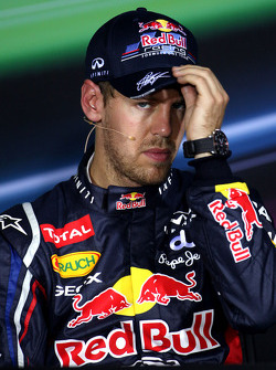 Post-qualifying press conference: third place Sebastian Vettel, Red Bull Racing