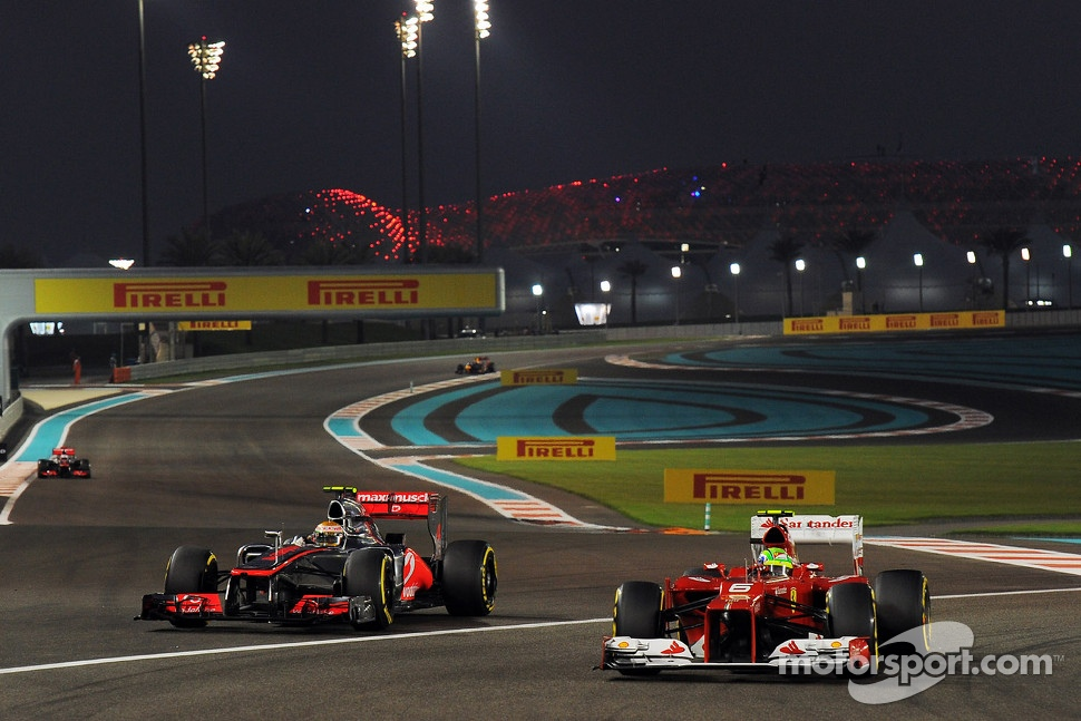Felipe Massa, Ferrari and Lewis Hamilton, McLaren