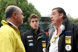 (L-R) Jaime Puig, SEAT Sport director, Pepe Oriola, SEAT Leon WTCC, Tuenti Racing Team and his father