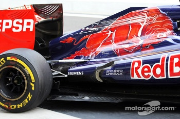 Scuderia Toro Rosso exhaust and rear suspension detail