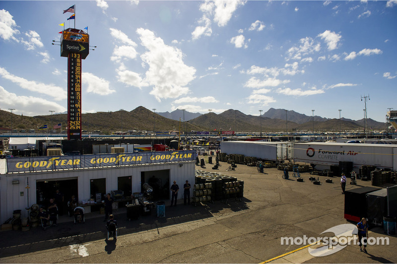 A view of Phoenix International Raceway