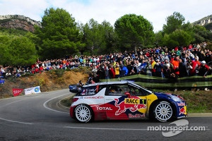 Sebastien Loeb and Daniel Elena in the Citroen DS3