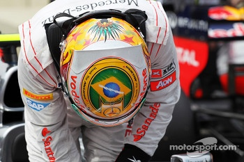 Lewis Hamilton, McLaren in parc ferme