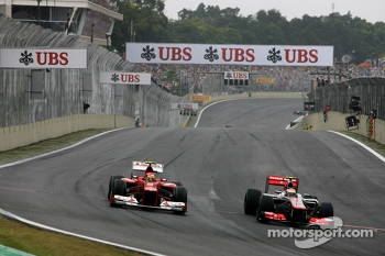 Felipe Massa, Scuderia Ferrari and Lewis Hamilton, McLaren Mercedes