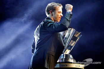 Brad Keselowski celebrates his championship