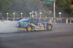 Brad Keselowski does a burnout