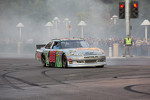 Dale Earnhardt Jr. does a burnout