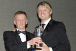 Ryan Dalziel receives his trophy from Dave Forster and the SMRC