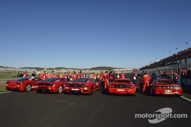 Five generations of Ferrari Challenge