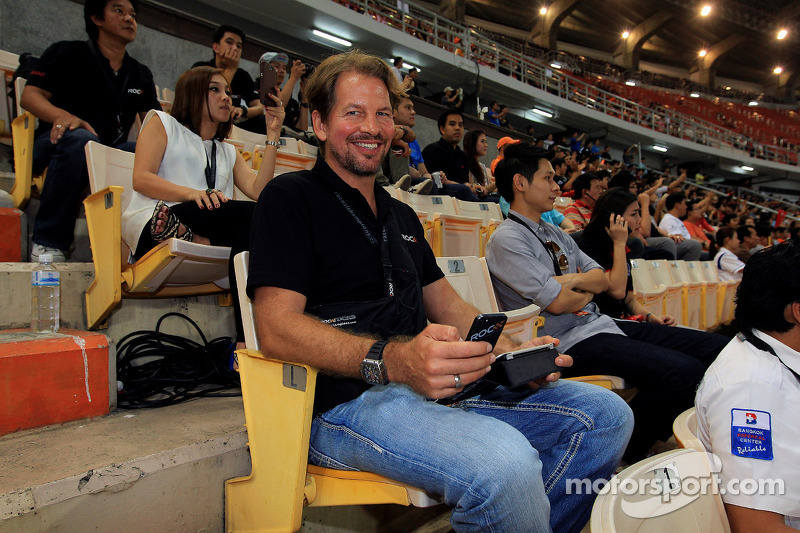 ROC founder Fredrik Johnsson watches the action