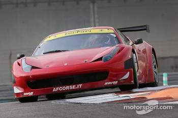#10 AF Waltrip Ferrari 458 Italia: Steve Wyatt, Maurizio Mediani, Michele Rugolo