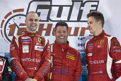 Podium: race winners Gaetano Ardagna, Gianmaria Bruni, Toni Vilander