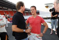 ROC founder Fredrik Johnsson and Michael Schumacher