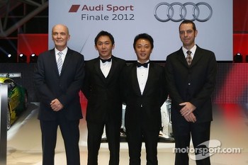Dr. Wolfgang Ullrich, head of Audi Sport, Jeffrey Lee, Marchy Lee, Franciscus van Meel