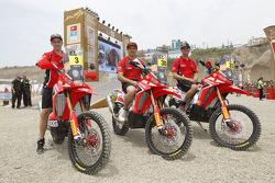 #3 Honda: Helder Rodrigues, #30 Honda: Javier Pizzolito, #33 Honda: Johnny Campbell
