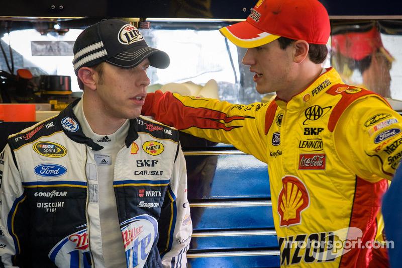 Brad Keselowski, Penske Racing Ford and Joey Logano, Penske Racing Ford