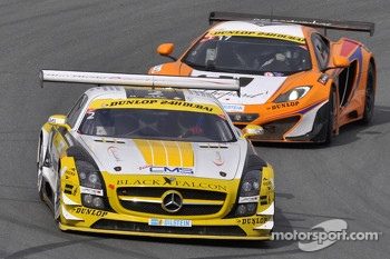 #2 Team Abu Dhabi by Black Falcon Mercedes SLS AMG GT3: Khaled Al Qubaisi, Sergei Afanasiev, Andreas Simonsen, Simon Knap, Steve Jans