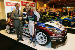 Malcolm Wilson, Qatar M-Sport World Rally Team Principal and Mads Ostberg, Qatar M-Sport World Rally Team unveil the M-Sport Ford Fiesta RS
