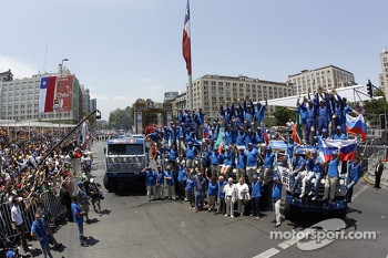 The Kamaz team celebrates