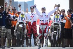 #18 KTM: Jakub Przygonski and #19 KTM: Jacek Czachor
