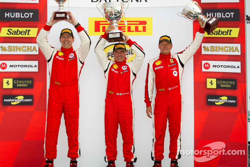 Trofeo Pirelli podium: winner John Farano