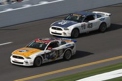 #59 MoonPie Racing Ford Mustang GT: Dean Martin, Roddey Sterling and #43 BTE Sport Mustang Boss 302R GT: Emmanuel Anassis, Alain Desrochers, Anthony Massari