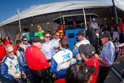 Chip Ganassi Racing with Felix Sabates team members celebrate win