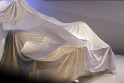 The new Sauber C32 under wraps