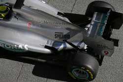 Nico Rosberg shakesdown the Mercedes AMG W04