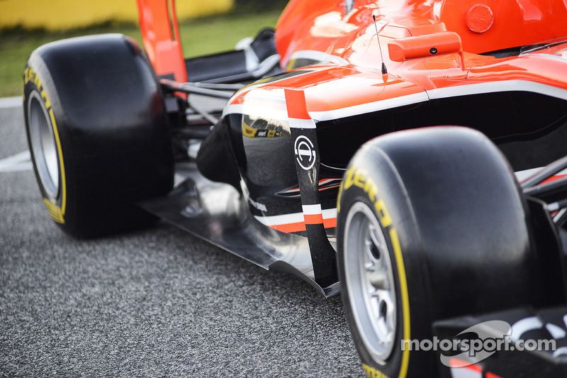 Marussia F1 Team MR02 sidepod detail