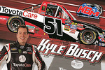 Kyle Busch with the Toyota Care paint-scheme