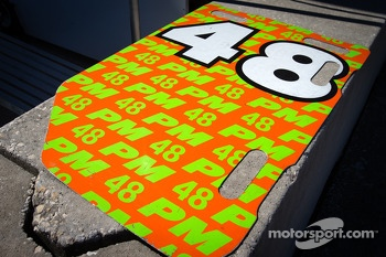 Pitboard for #48 Paul Miller Racing