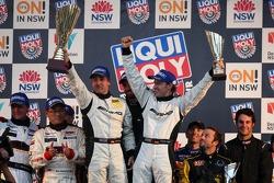 Podium: race winners Bernd Schneider, Thomas Jäger, Alex Roloff