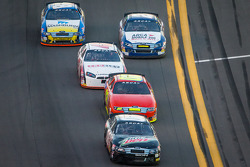 Clay Campbell leads a group of cars