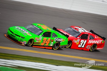 Danica Patrick and Justin Allgaier