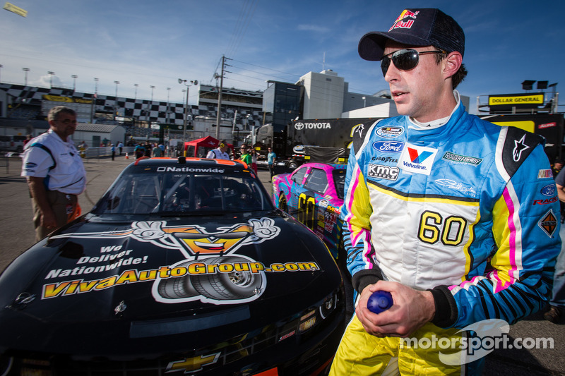 Travis Pastrana after setting the fastest time
