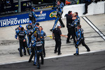 Hendrick Motorsports Chevrolet crew members celebrate victory
