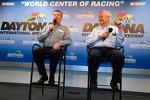 Press conference: Johnny Rutherford and Bobby Allison