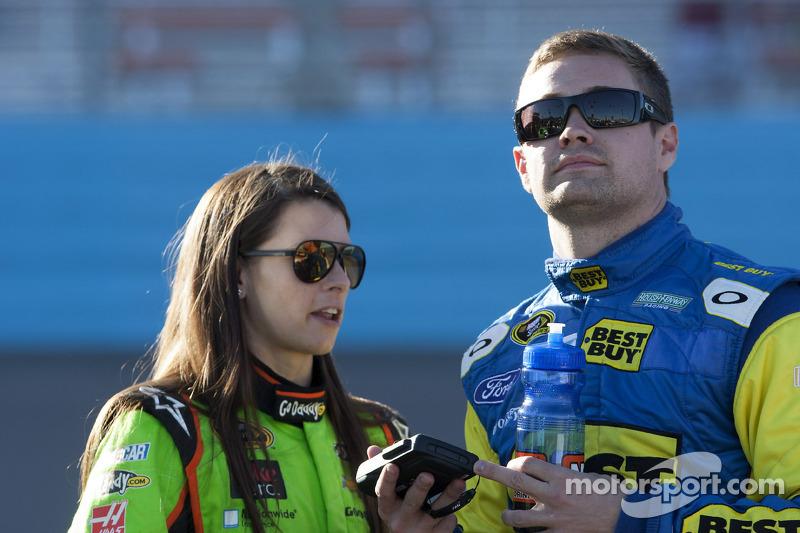 Danica Patrick and Ricky Stenhouse Jr.