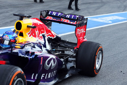 Sebastian Vettel, Red Bull Racing RB9 rear suspension