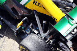 Caterham CT03 rear suspension and exhaust