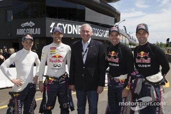 Casey Stoner, Mark Webber, Craig Lowndes and Jamie Whincup