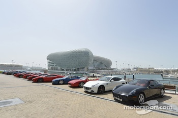 A line up of Ferraris