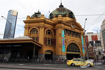 Flinders Street Station in scenic Melbourne