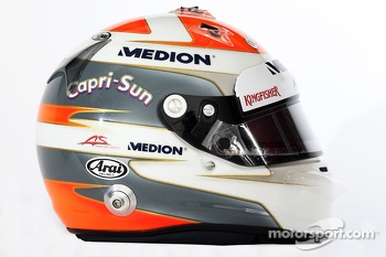 The helmet of Adrian Sutil, Sahara Force India F1