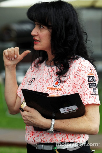 Silvia Hoffer, McLaren Press Officer