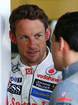 Jenson Button, McLaren with Gary Paffett, McLaren Test Driver